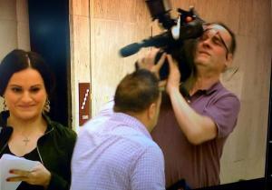Joe Giudice and Cameraman