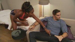 Nia touching Jordan